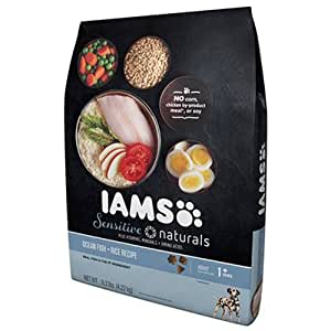 Iams Sensitive Naturals Dog Food Ocean Fish Rice Amp
