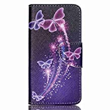 Acer Z320 Z330 Case, Chinstyle Acer Liquid Z320 Z330 Case Wallet Case Magnetic Closure Beautiful Butterfly Pattern Flip Cover