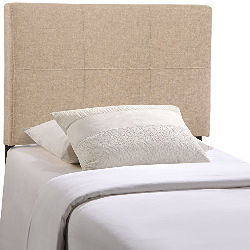Modway Oliver Upholstered Fabric Twin Headboard in Beige by Modway