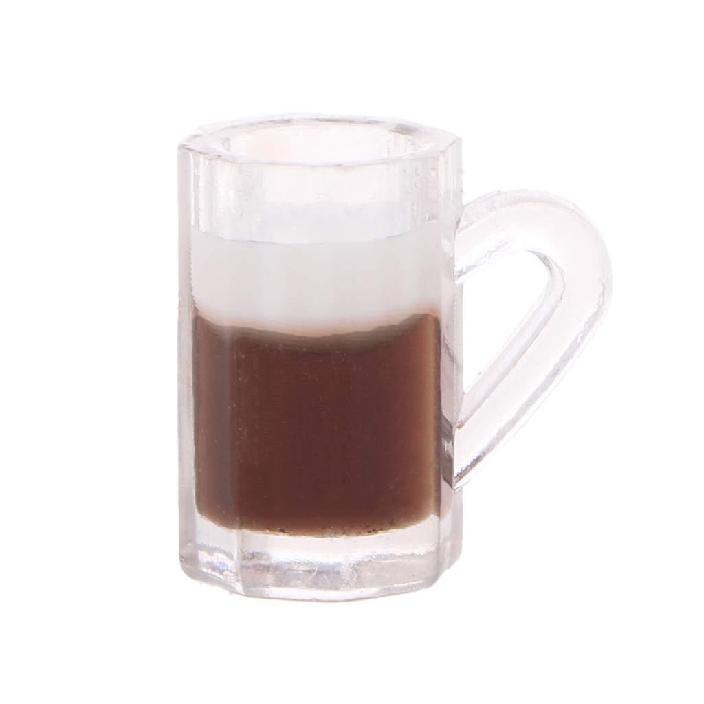 4 pcs 1//12 Doll house Miniature kitchen tableware plastic beer mug glass cups  B