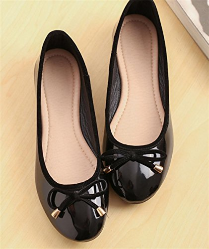 pengweiChaussures peu profondes simples peu Chaussures black Chaussures d¨¦contract¨¦es profondes Chaussures arrondies plates 1twSr1