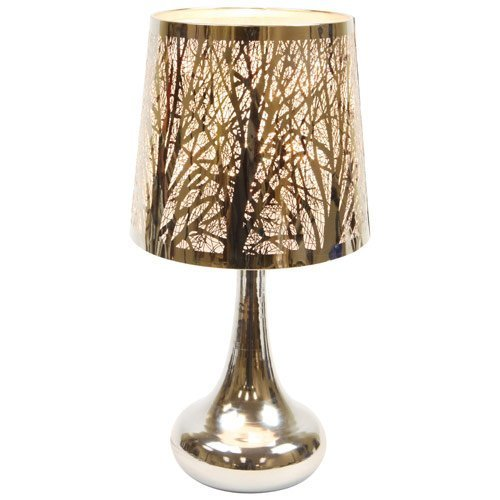 Electric Metal Woodland Scene Oil And Tart Warmer Lamp With Dimmer.