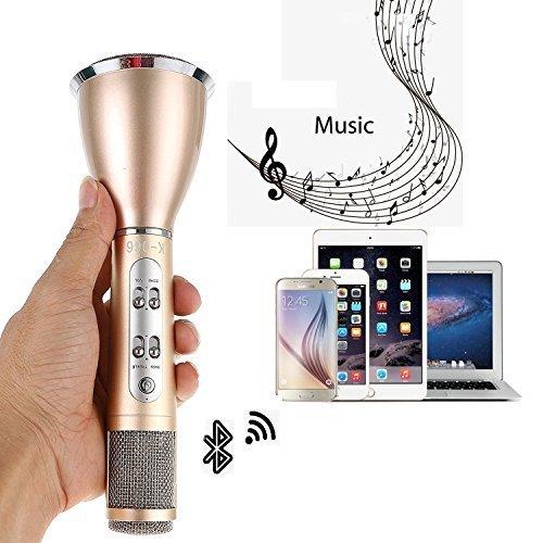 Wireless Microfono Karaoke, SGODDE 3-in-1Portable Bluetooth Karaoke Player - universale compatibile con iPhone microfono di Apple Smartphone Android iPad del PC per la musica suonando e cantando a cas