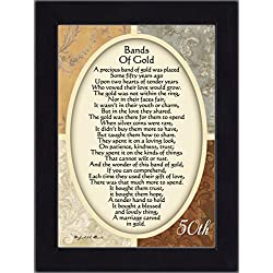 Vintage Bands of Gold Poem Print
