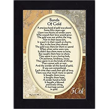 Bands of Gold, Poem celebrating a couples 50th anniversary, 7x9 77979...