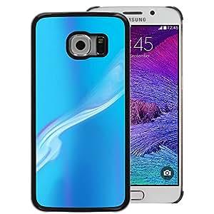 A-type Arte & diseño plástico duro Fundas Cover Cubre Hard Case Cover para Samsung Galaxy S6 EDGE (NOT S6) (Blue Smoke Sky Abstract Painting Art)
