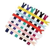 PIXNOR 50pcs Invisible cremallera Cremalleras para costura-color al azar