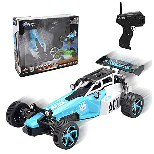Joyjam Cars for 5-12 Year Old Boys Toy RC Cars Remote Control Car for Kids Racing Car 1/24 Scale Alloy Rally Short Course Race Car Christmas Birthday Gifts CMC Blue