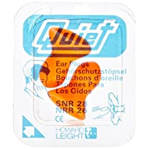 Howard Leight HLIQD1 Quiet Reusable Foam Earplug, NRR 26, Orange (Box of 100 Pair)