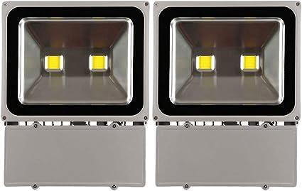 2X Focos LED Exterior 100W,Blanco Frio Proyector Reflector de ...