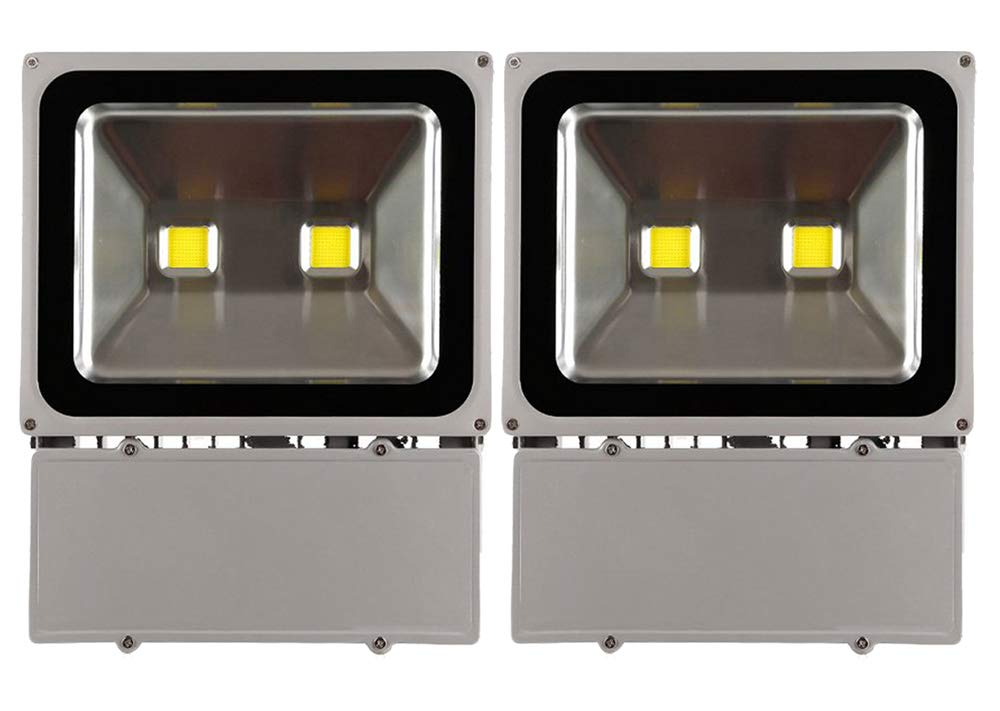 2pcs 100w Blanc Froid  Leetop 2pcs Cool blanc 100W Projecteur Spot D'éclairage à LED Blanc Froid IP65