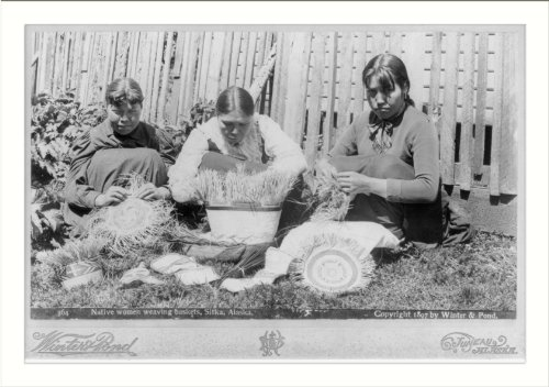Alaska Native Baskets - Historic Print (L): [Native women weaving baskets, Sitka, Alaska]