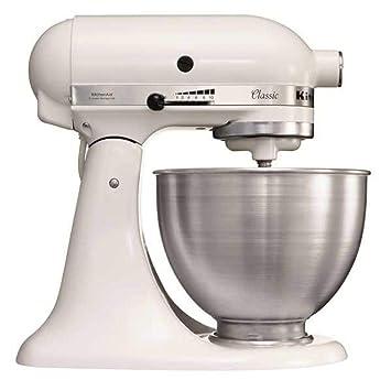 meilleure sélection artisanat exquis profiter du prix le plus bas KitchenAid 5K45SSEWH robot da cucina classico, 10 velocità, 4.3 L, Bianco