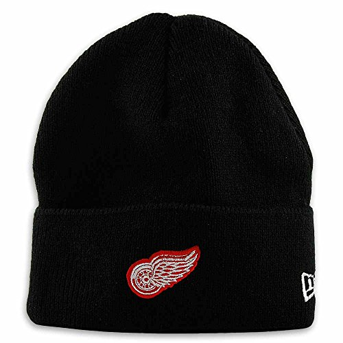 New Era Detroit Red Wings Black Knit Hat