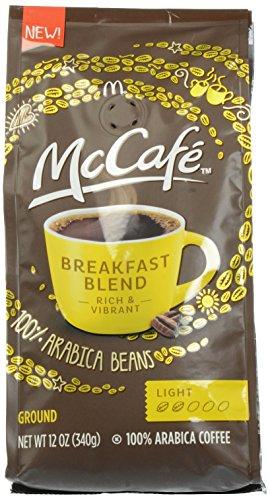 McCafe Coffee Breakfast Blend Ground Coffee, Light Roast, 12 Ounce