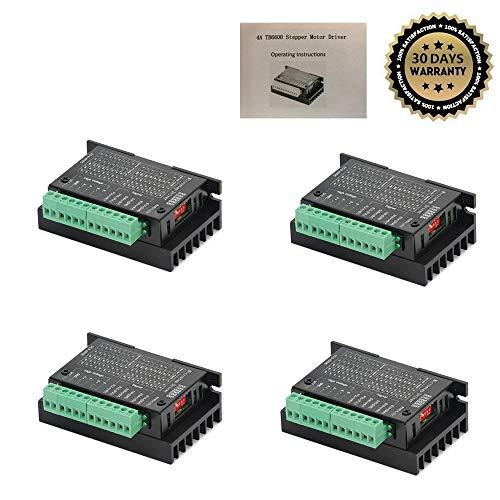 Hybrid Motor - 4 Pack TB6600 4A 9-42V Stepper Motor Driver CNC Controller, Stepper Motor Driver Nema tb6600 Single Axes Two Phase Hybrid Stepper Motor for CNC