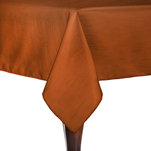 Ultimate Textile Reversible Shantung Satin - Majestic 60 x 120-Inch Rectangular Tablecloth Burnt - Shades R Sol