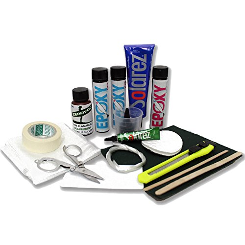 SOLAREZ UV Cure SUP Epoxy Pro Travel Kit - Epoxy Surfboard Repair Kit ~ Cures 3 min in The Sun! Epoxy Surfboard Repair, SUP Repair, Epoxy Wakeboard Repair, Low Odor ~ Eco Friendly, Made in The USA! ()