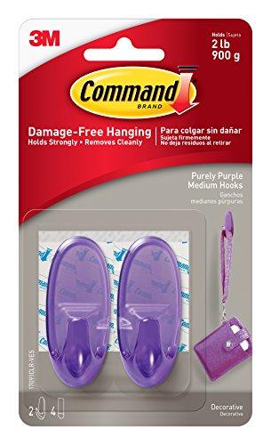 Command 17091CLR-VES Purely Purple Hooks