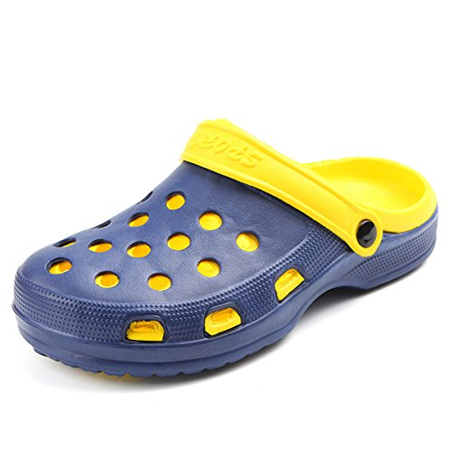 MOOKEY Slipper Sandals For Women and Men's Beach Shoes Unisex Indoor and Outdoor Slippers EVA Lightweight Yellow NtxwBw
