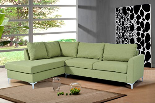 NHI Express Reversible Sectional Landon, Green