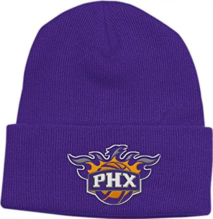 97f8eaaa059ad Amazon.com   adidas Phoenix Suns Purple Basic Logo Cuffed Knit Hat ...