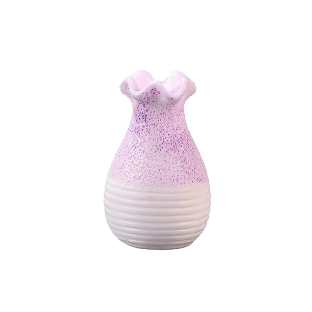 Yamalans Miniature Gardening Landscape Micro Bonsai Craft,Flower Vase Shape Resin DIY Bonsai Crafts Desk Decor Set 3# 2.45cm - 4.4cm