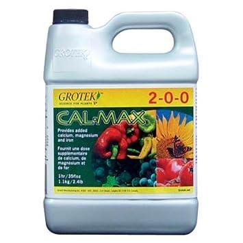 Aditivo / Fertilizante de Calcio, Magnesio y Hierro Grotek Cal-Max (1L): Amazon.es: Jardín