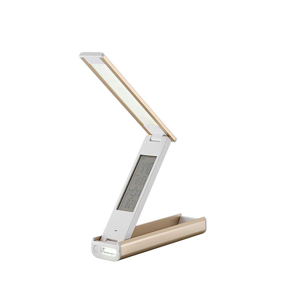 OOFAY LIGHT Lámpara De Ocular Mesa, LED Protección Ocular De Aprendizaje De La Luz De Lectura, Regulable Recargable Portátil, Plegable Lámpara De Escritorio De Calendario Perpetuo De Negocios caca9e