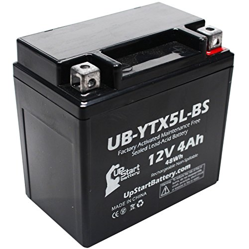 YTX5L-BS Battery Replacement (4Ah, 12v, Sealed) Factory Activated, Maintenance Free Battery Compatible with - 2006 Honda CRF150F, 2006 Honda CRF250X, 2005 Honda CRF250X, 2004 Honda CRF250X (Atv 4 Wheelers For Sale By Owner)