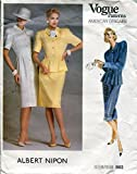 Vogue American Designer Pattern 1862 Albert Nipon Misses' Dress, Top and Skirt, Size 10 (Bust 32 1/2)