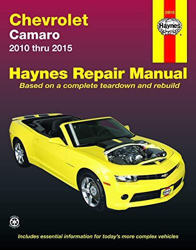 Chevrolet Camaro (10-15) Haynes Repair Manual (Does not include information specific to Z28 models. Includes thorough vehicle coverage apart from the specific exclusion noted) (Haynes Automotive)