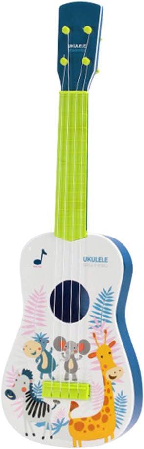 Exceart Ukelele Hawaiano Guitarra Juguete Patrón de Dibujos Animados Mini Juguete Educativo Educativo Temprano Guitarra Ukelele para Estudiantes Adultos Color Mixto 59Cm