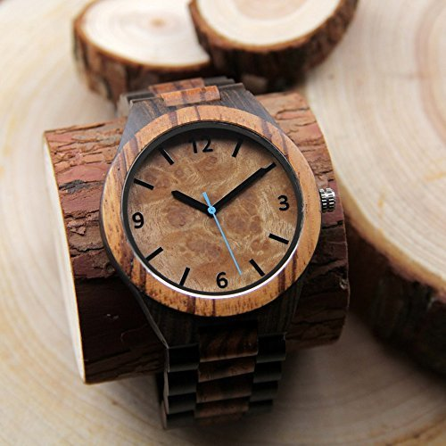Personalized Watch - Engraved Watch - - Sunglasses Ban Ray Style Wooden