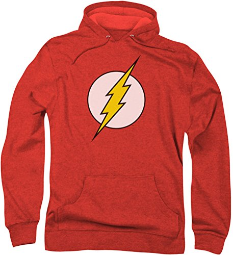 hoodie-dc-comics-flash-logo-pullover-hoodie-size-m