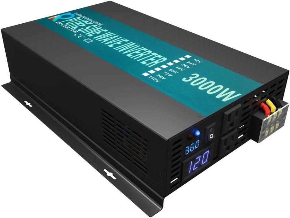 WZELB 3000 Watt Continuous / 6000 Watt Peak 36v Pure Sine Wave Power Inverter