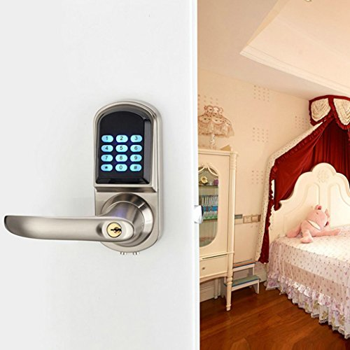 Baoblaze Electronic Digital Keyless Code Door Lock Unlock With Code And Mechanical Keys for Home Hotel Entry Security by Baoblaze (Image #5)