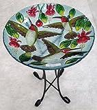 18%22 Three Hummingbird Glass Bowl%2Fbir