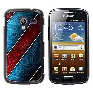 Stuss Case / Funda Carcasa protectora - Stripes Design Wall Art Red Blue Wallpaper - Samsung Galaxy Ace 2 I8160 Ace II X S7560M