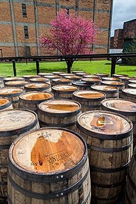 Fine Art Print of Buffalo Trace Distillery - Bourbon Whiskey Canvas Print | Man Cave Bar Decor - Wall Art for Bathroom Bedroom Living Room Hotel - Kentucky - Pappy van Winkle - Bourbon Gift
