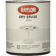 Krylon KRY3943 Dry Erase Paint Can White, 29 oz