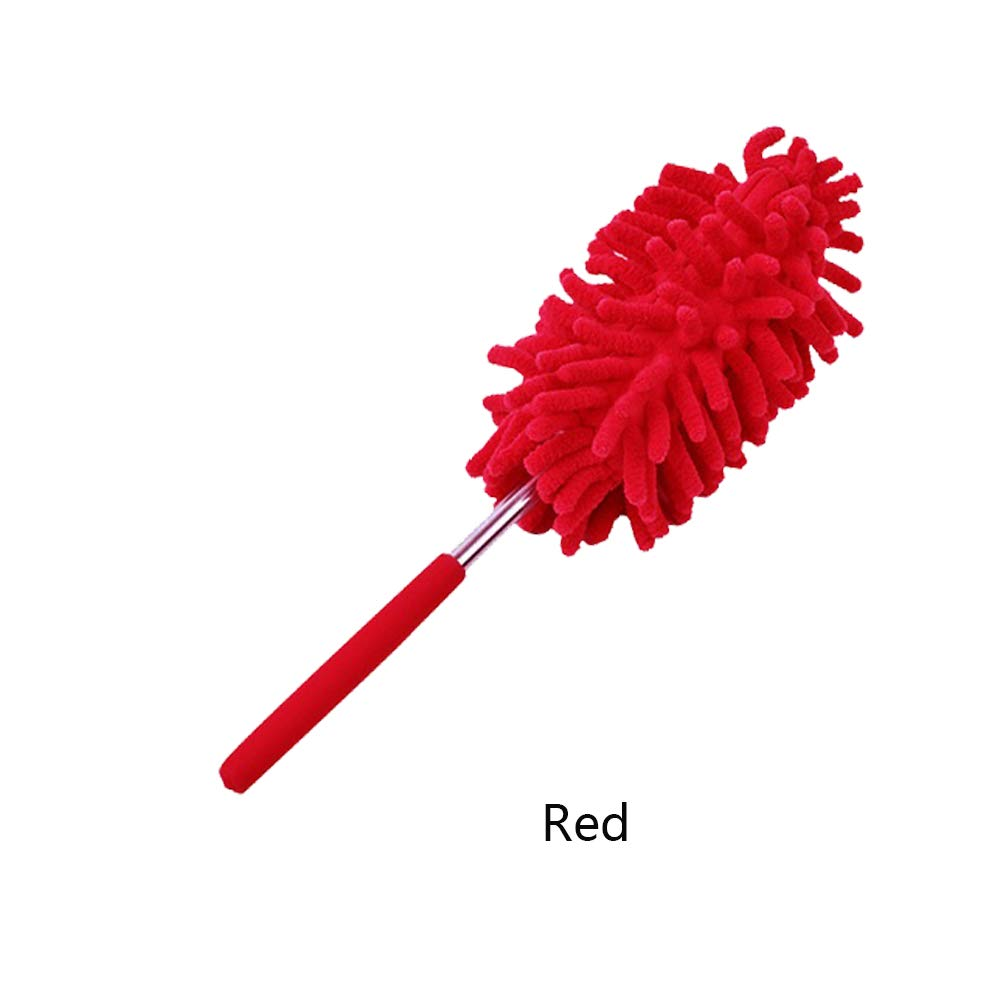 Adjustable and Telescopic Pole Microscopic Fluffy Lint Free Microfiber Duster Flexible Extendable Cream