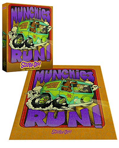 Scooby Doo Munchies Run 1, 000Piece Premium Puzzle | Official Sooby Doo Merchandise | Scooby Doo & Shaggy Jigsaw Puzzles