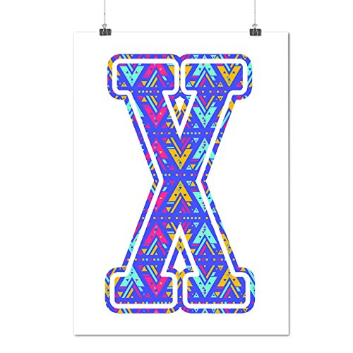 Geometrical Letter Abstract Art Matte/Glossy Poster A3 (12x17 inches) | Wellcoda