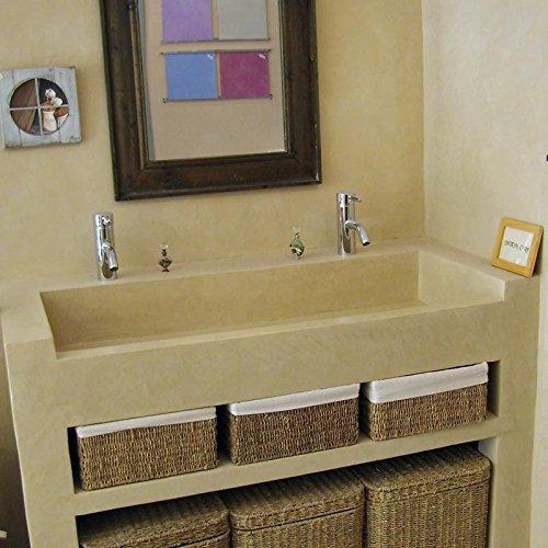 Kit Beton cera piano di lavoro e cucina – Cemento cerato piano di lavoro  cucina Crédence lavello Sol E Muro