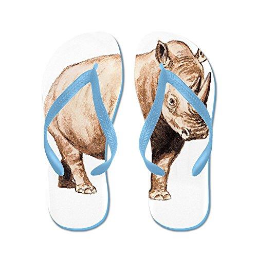 b80d0b8c68cd CafePress Rhino Rhinoceros Animal Flip Flops Funny Thong Sandals ...