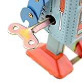 Actopus Funny Dark & Green Clockwork Spring Wind Up Metal Walking Robot Retro Vintage Mechanical Kids Children Toy Gift