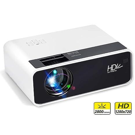 YHML Mini Proyector LED Resolución D60, 1280X720p, Portátil 3D ...