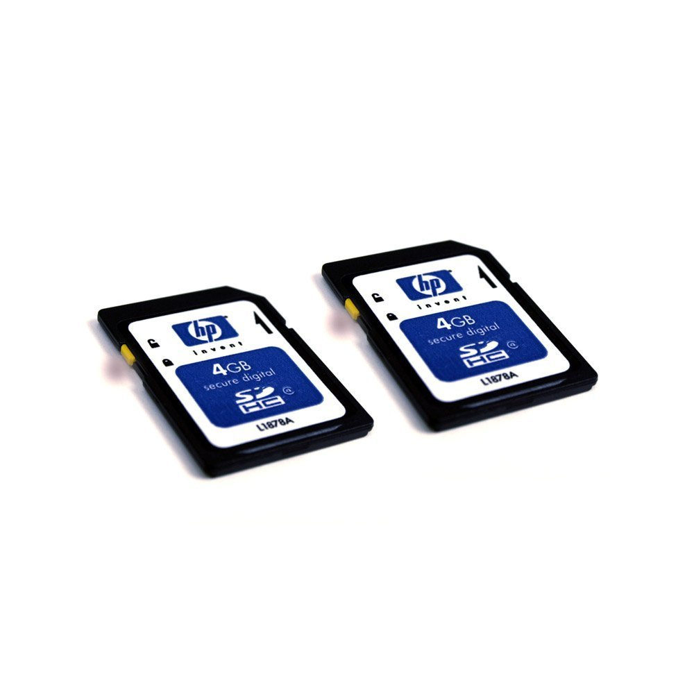 HP 4 GB Class 4 SDHC Flash Memory Card 2-Pack L2531A
