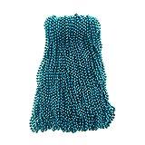 Turquoise Blue Mardi Gras Beads 33 inch 7mm, 6 Dozen, 72 Necklaces